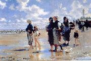 John Singer Sargent Oyster Gatherers of Cancale oil painting reproduction