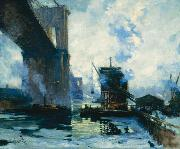 Jonas Lie Morning on the River oil painting reproduction