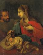 Josephus Laurentius Dyckmans Holy Family with sleeping Jesus painting