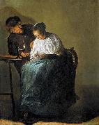 Judith leyster Man offering money to a young woman oil painting reproduction