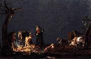 Leonaert Bramer Peasants by a Fire oil painting reproduction