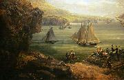 Louis-Philippe Crepin Fight of the Poursuivante against the British ship Hercules oil on canvas
