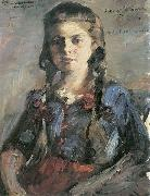 Lovis Corinth Wilhelmine mit Zopfen oil painting reproduction