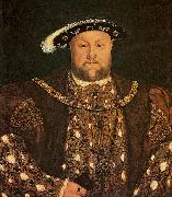 Lucas Horenbout Henry VIII oil on canvas
