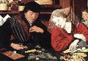 Marinus van Reymerswaele The Banker and His Wife oil