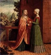 Master of Ab Monogram The Visitation oil painting reproduction