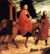 Master of Ab Monogram The Flight into Egypt oil on canvas