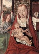Master of the Legend of St. Lucy Virgin and Child with an Angel oil on canvas