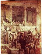 Maurycy Gottlieb Christ Preaching at Capernaum oil painting reproduction