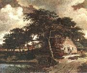 Meindert Hobbema Landscape with a Hut oil painting reproduction