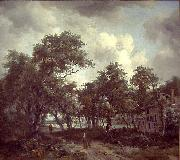 Meindert Hobbema Hut among Trees painting