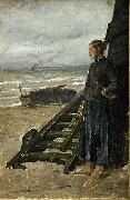 Meunier, Constantin Fishermans Daughter at Nieuwpoort oil on canvas