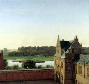 P.C. Skovgaard View from Frederiksborg Castle oil on canvas