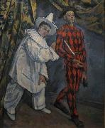 Paul Cezanne Pierot and Harlequin oil painting reproduction