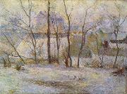 Paul Gauguin Garten im Schnee oil painting reproduction