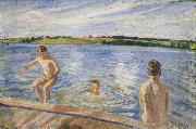 Peter Hansen Boys Bathing oil painting reproduction