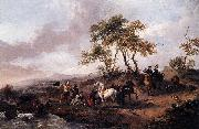 Philips Wouwerman Halt of the Hunting Party painting