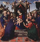 Piero di Cosimo Maria mit dem Kind, Engeln, Hl. Katharina von oil painting reproduction