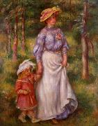 Pierre Auguste Renoir La promenade oil painting reproduction