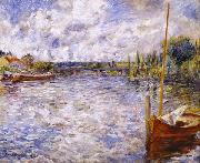Pierre Auguste Renoir The Seine at Chatou oil painting reproduction