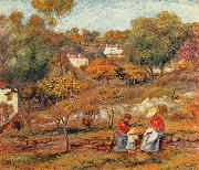 Pierre-Auguste Renoir Landschaft bei Cagnes oil painting reproduction