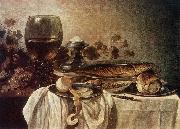Pieter Claesz Breakfast-piece oil painting reproduction