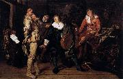 Pieter Codde Actors Changing Room oil on canvas