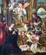 Pieter Coecke van Aelst Adoration by the Shepherds. oil on canvas