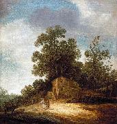 Pieter de Molijn Pastoral Landscape with Tobias and the Angel oil on canvas