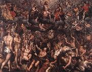 Raphael Coxie The Last Judgment. oil on canvas