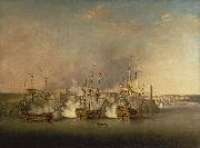Richard Paton Bombardment of the Morro Castle, Havana, 1 July 1762 oil
