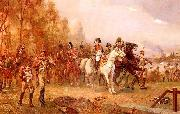 Robert Alexander Hillingford Napoleon with His Troops at the Battle of Borodino, 1812 oil