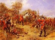 Robert Alexander Hillingford George II at the Battle of Dettingen oil
