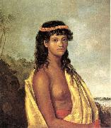 Robert Dampier 'Tetuppa, a Native Female of the Sandwich Islands' oil