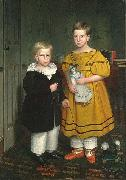 Robert Peckham The Raymond Children oil