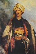 Robert Scott Lauder David Roberts dressed in oriental clothing oil