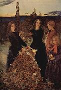 Sir John Everett Millais Herbstlaub painting
