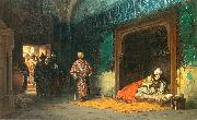 Stanislaw Chlebowski Sultan Bayezid prisoned by Timur. oil on canvas
