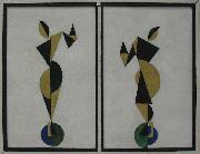 Theo van Doesburg Dancers oil painting reproduction