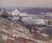 Theodore Robinson Winter Landscape oil painting reproduction