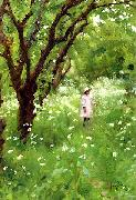 Thomas Cooper Gotch The Orchard oil on canvas