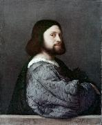 Titian Herr in Blau painting