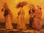 Valentine Cameron Prinsep Prints Home from Gleaning painting