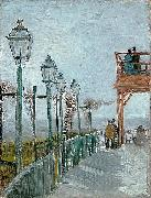 Vincent Van Gogh Terrace and Observation Deck at the Moulin de Blute oil painting reproduction