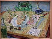 Vincent Van Gogh Still life with a plate of onions oil painting reproduction