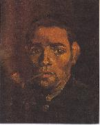 Vincent Van Gogh Head of a young peasant with a Pipe painting
