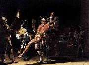 Willem Cornelisz Duyster Carnival Clowns oil on canvas