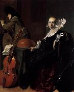 Willem Cornelisz. Duyster Music-Making Couple oil painting reproduction