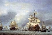 Willem Van de Velde The Younger The Taking of the English Flagship the Royal Prince oil on canvas