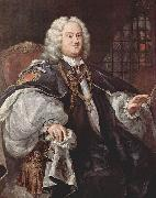 William Hogarth Portrat des Bischofs Benjamin Hoadly oil painting reproduction